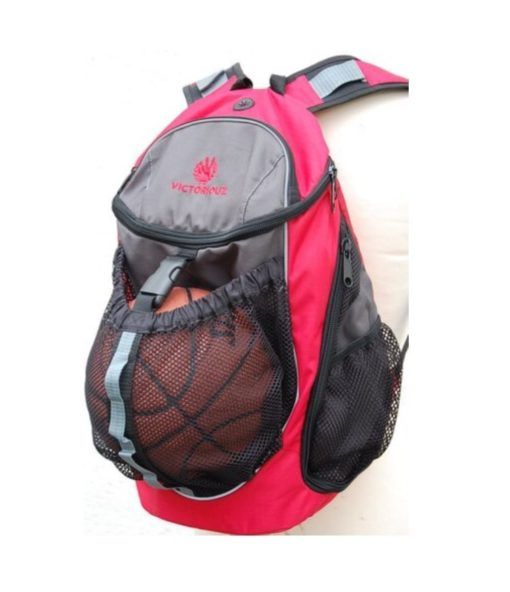 Basketball Backpack Victoriouz Rød